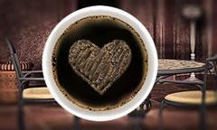 Kaffeeschaum der Liebe