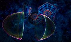 Psychedelische Space Reise