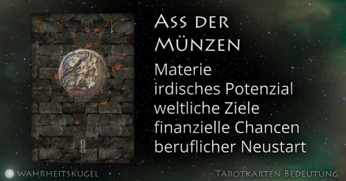 Ass Der Münzen Bedeutung Der Tarotkarte Die Wahrheitskugel