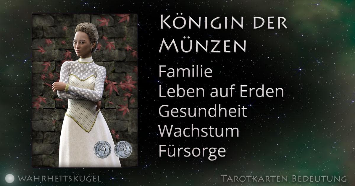 Königin Der Münzen Bedeutung Der Tarotkarte Die Wahrheitskugel