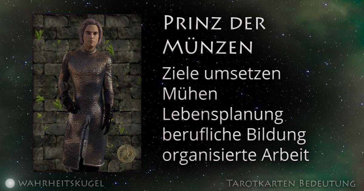Prinz Der Münzen Bedeutung Der Tarotkarte Die Wahrheitskugel