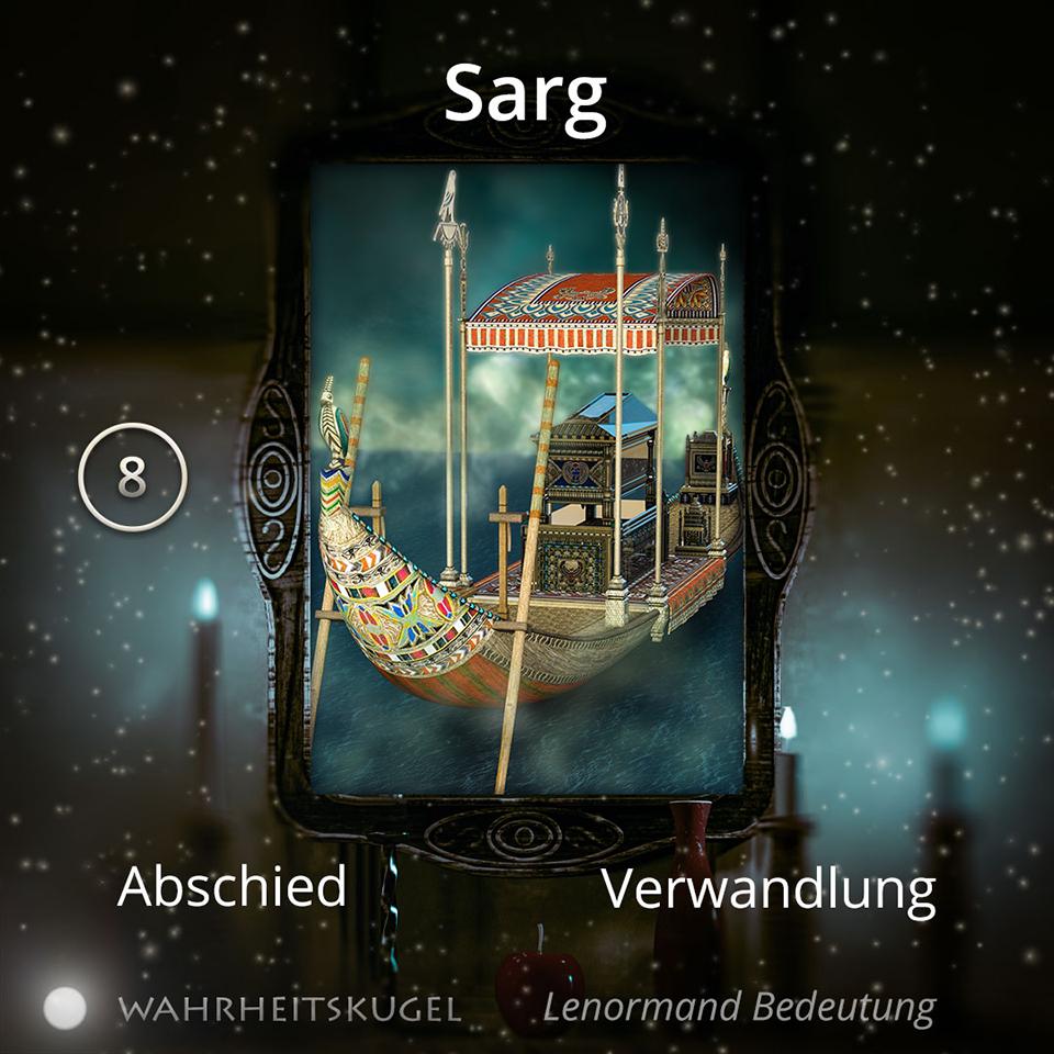 Bedeutung der Lenormandkarte 8 - Sarg