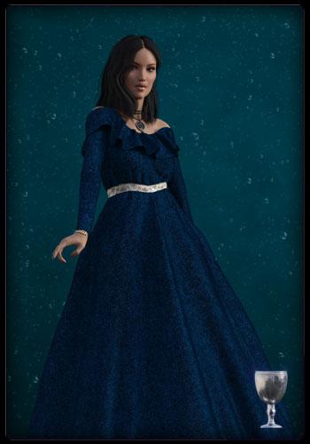 Tarotkarte - Prinzessin des Grals