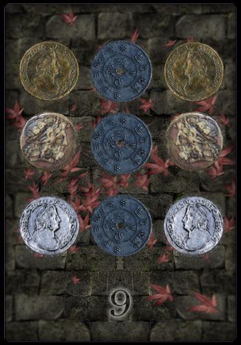 Neun der Münzen