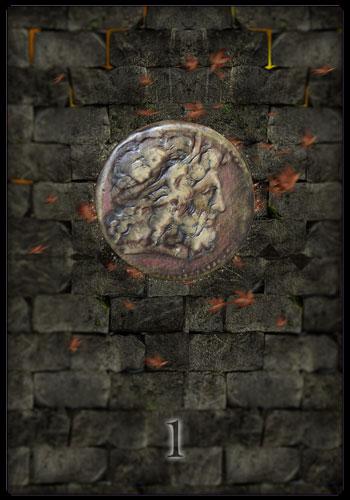 Tarotkarte - Ass der Münzen