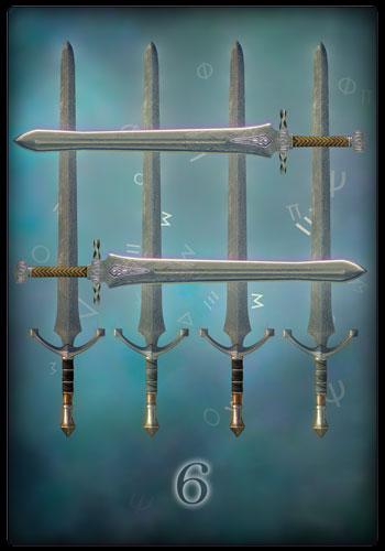 Tarotkarte - Sechs der Schwerter