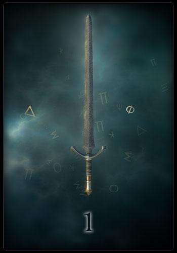 Tarotkarte - Ass der Schwerter