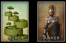 Lenormand Kombination - Berg / Anker